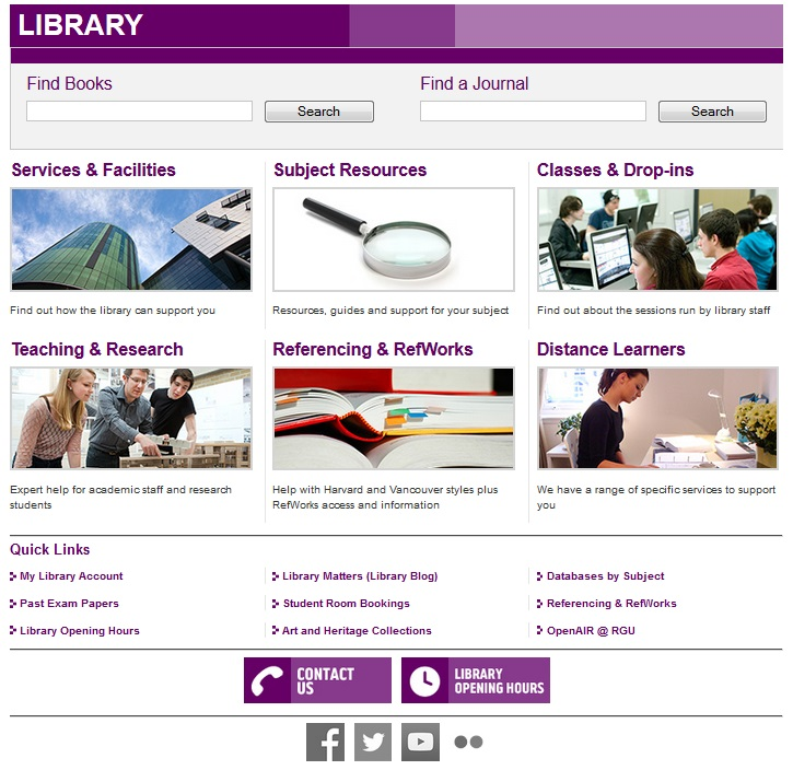 new library website
