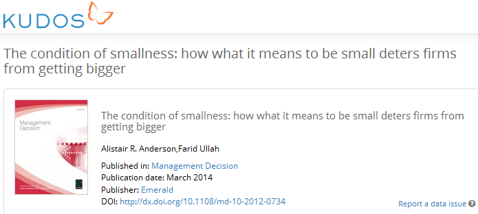 Anderson & Ullah The condition of smallness