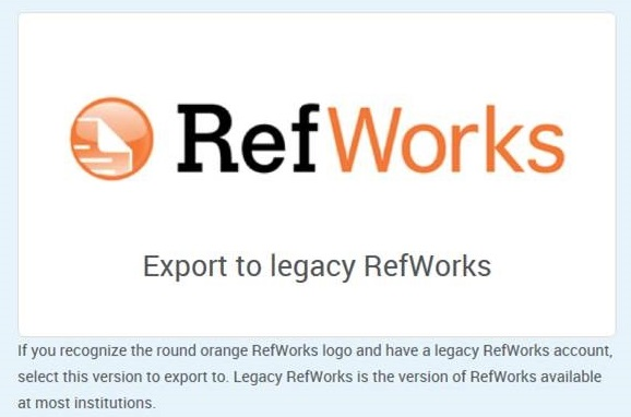 refworks options 3