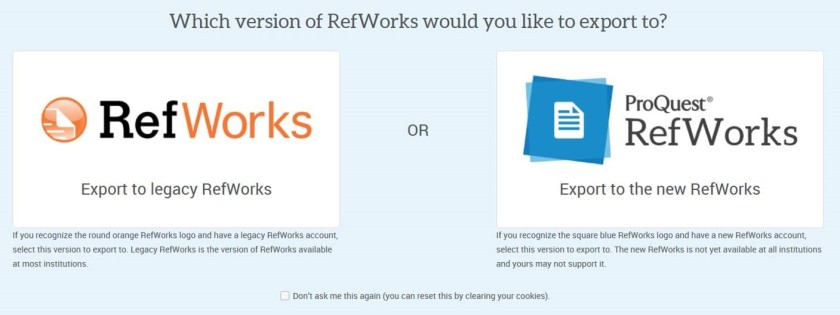 refworks options